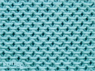 The Chinese Waves pattern is lovely, giving a thick, textured fabric. This stitch is based on garter stitch, so there's no purling and it doesn't curl up.