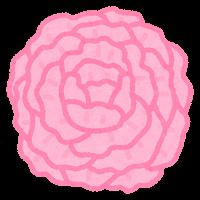 お花紙のイラスト(赤)
