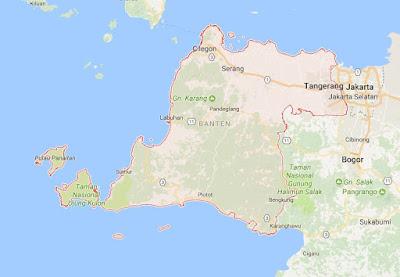 Peta Wilayah Provinsi Banten