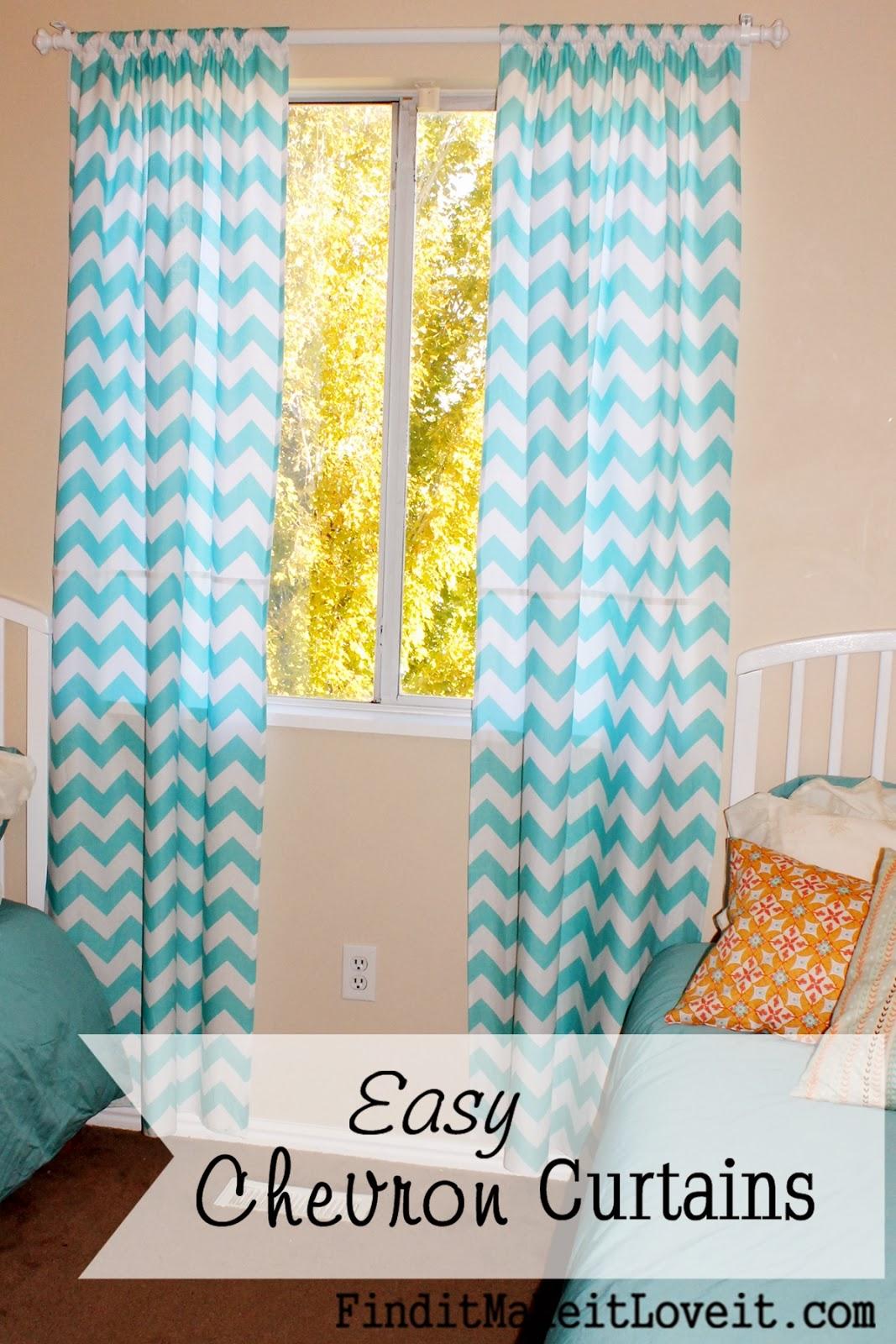 Cheveron Curtain Baby Room