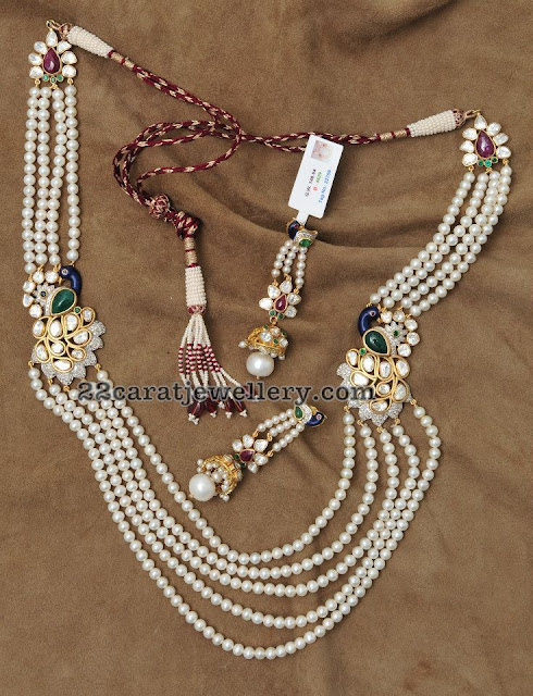 Pearls Long Chain with Side Motifs