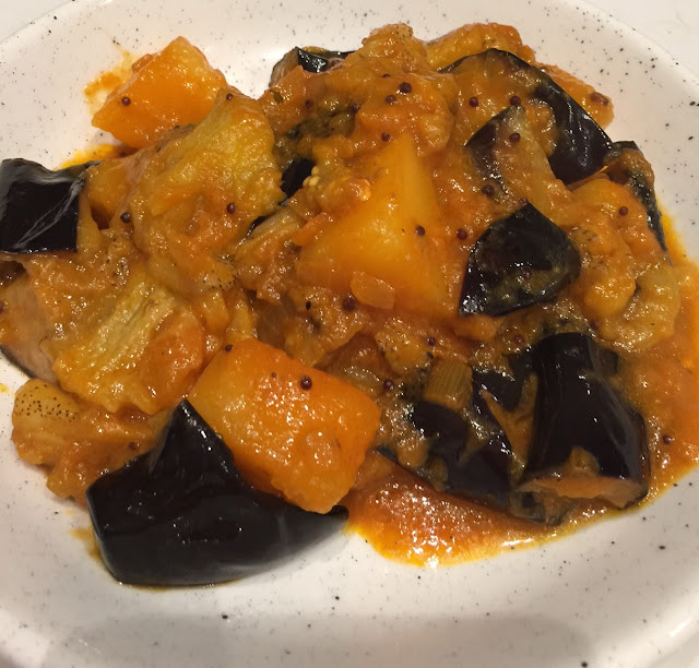Saffron House, eggplant masala
