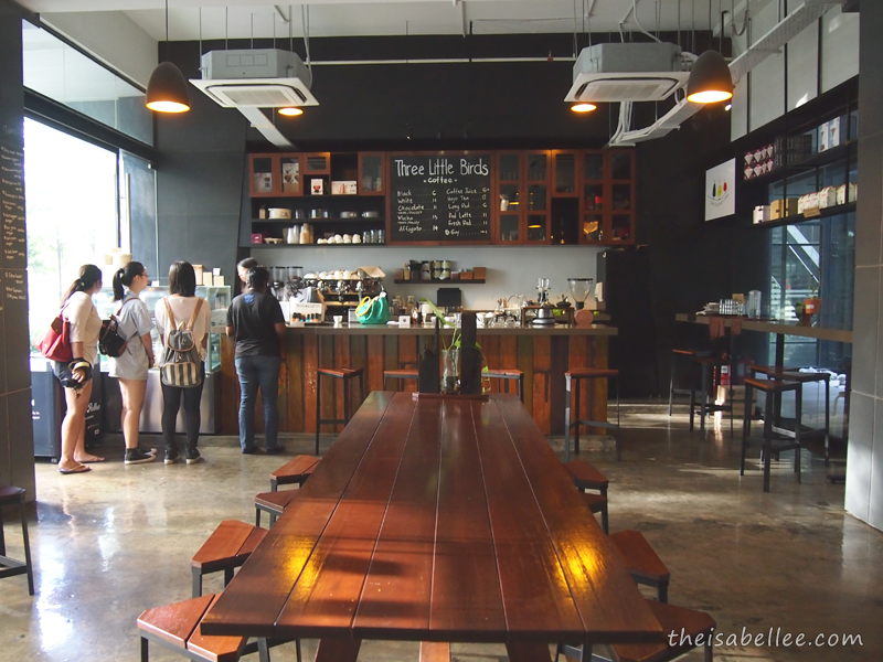 Interior of Three Little Birds Coffee at Sentul, KL