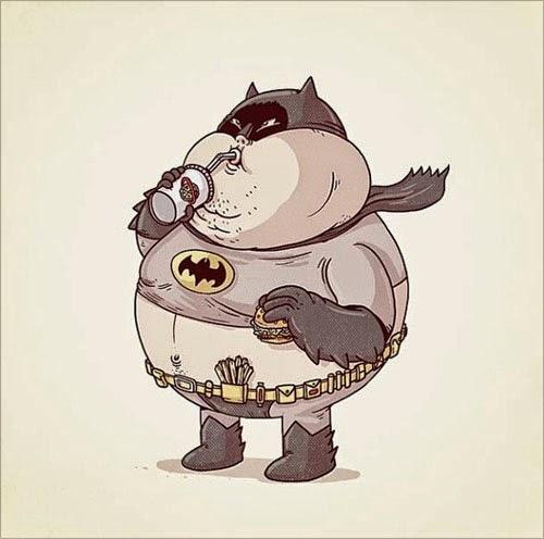 Fat Super Hero Gemuk - DC Fat Batman