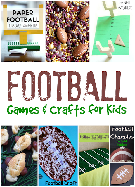 Football Themed Activities for Kids during the Super Bowl