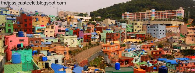 View of Gamcheon Culture Village, Busan, Korea