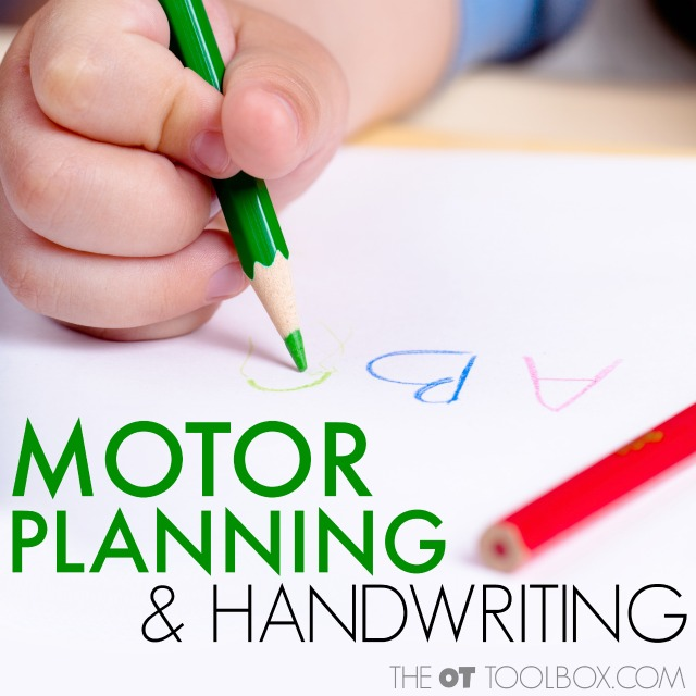 Motor planning and handwriting for kids