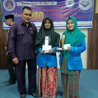 Mahasiswi MPI meraih Juara II MTQ (Khat kontemporer) di ISI Padang Panjang