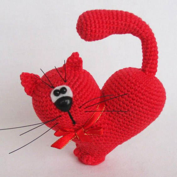 Catnip Toys For Valentine S Day : Free amigurumi patterns valentine s day cat crochet pattern