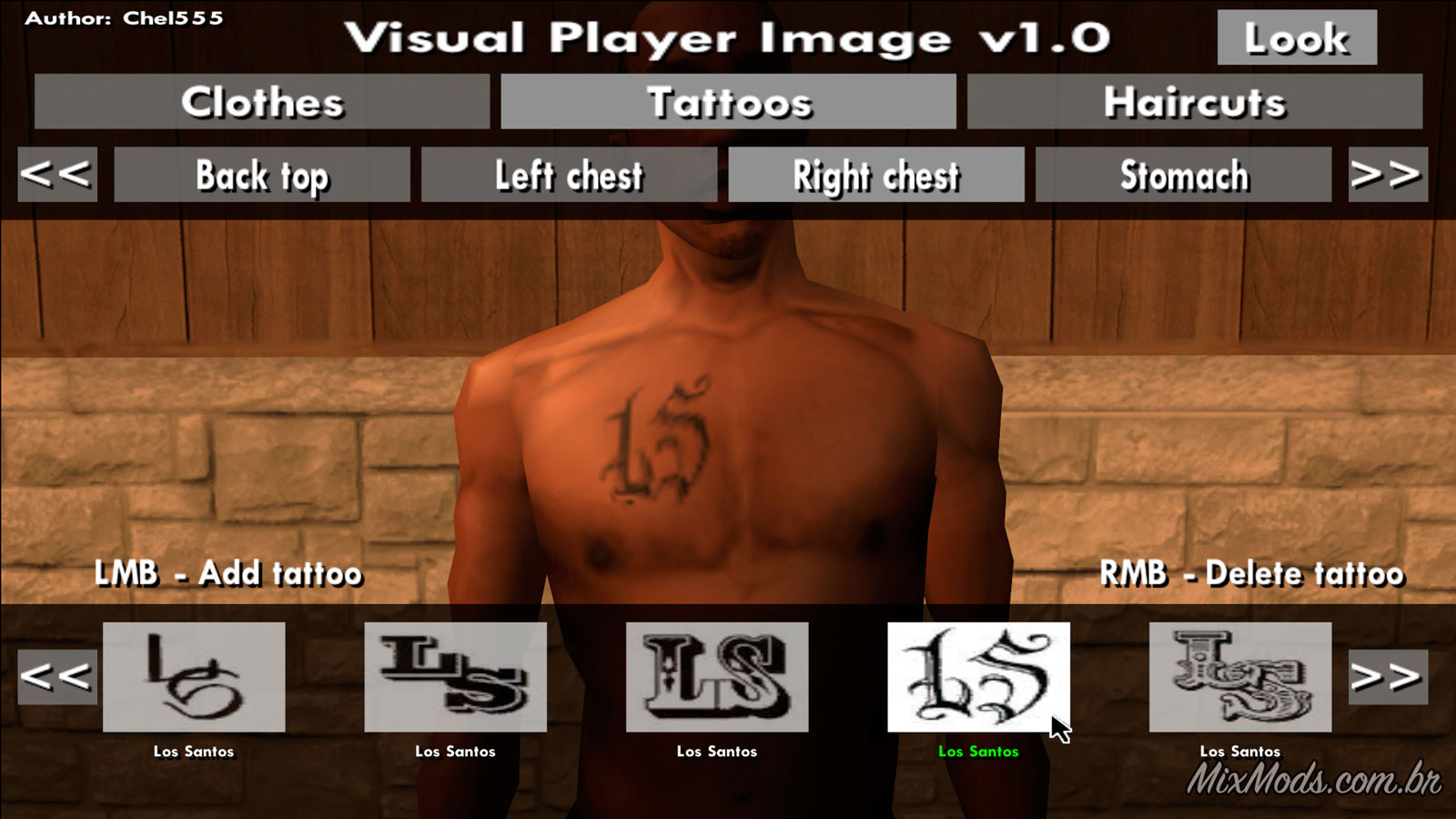 Visual Player Image (mudar roupas com mouse) - | MixMods | Mods para
