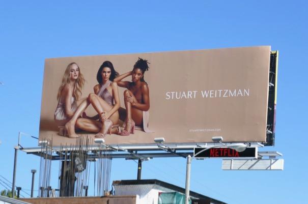 Stuart Weitzman shoes S19 billboard