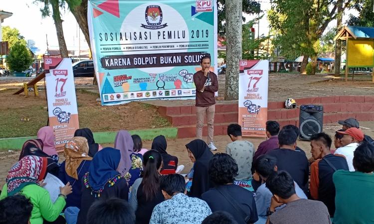 KPU Bone Sosialisakan Pemilu 2019 ke Pemilih Disabilitas