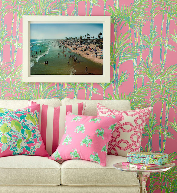 Attractive Lee Jofa Lilly Pulitzer #2: Pink-green-Bamboo_WallPaper.jpg