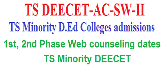 1st, 2nd Phase Web counseling, Certificates verification dates-TS minority deecet 2017