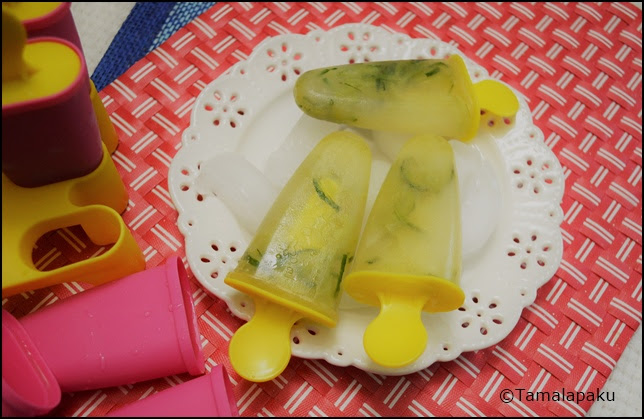 Cucumber Limeade Popsicles