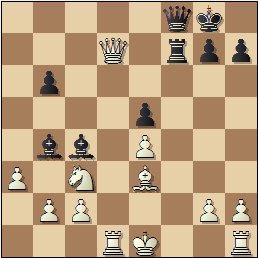 Partida de ajedrez Juncosa-Golmayo, posición después de 19.Dxd7!
