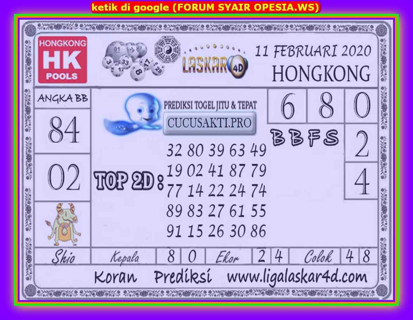 Kode syair Hongkong Selasa 11 Februari 2020 141