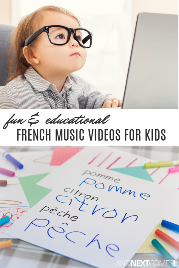 French music videos for kids on YouTube