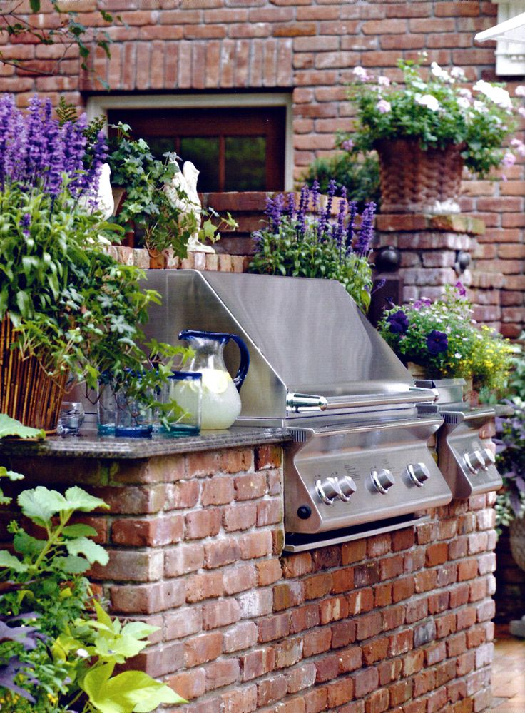 Outdoor Cooking Area on Pinterest | Outdoor Barbeque Area ...