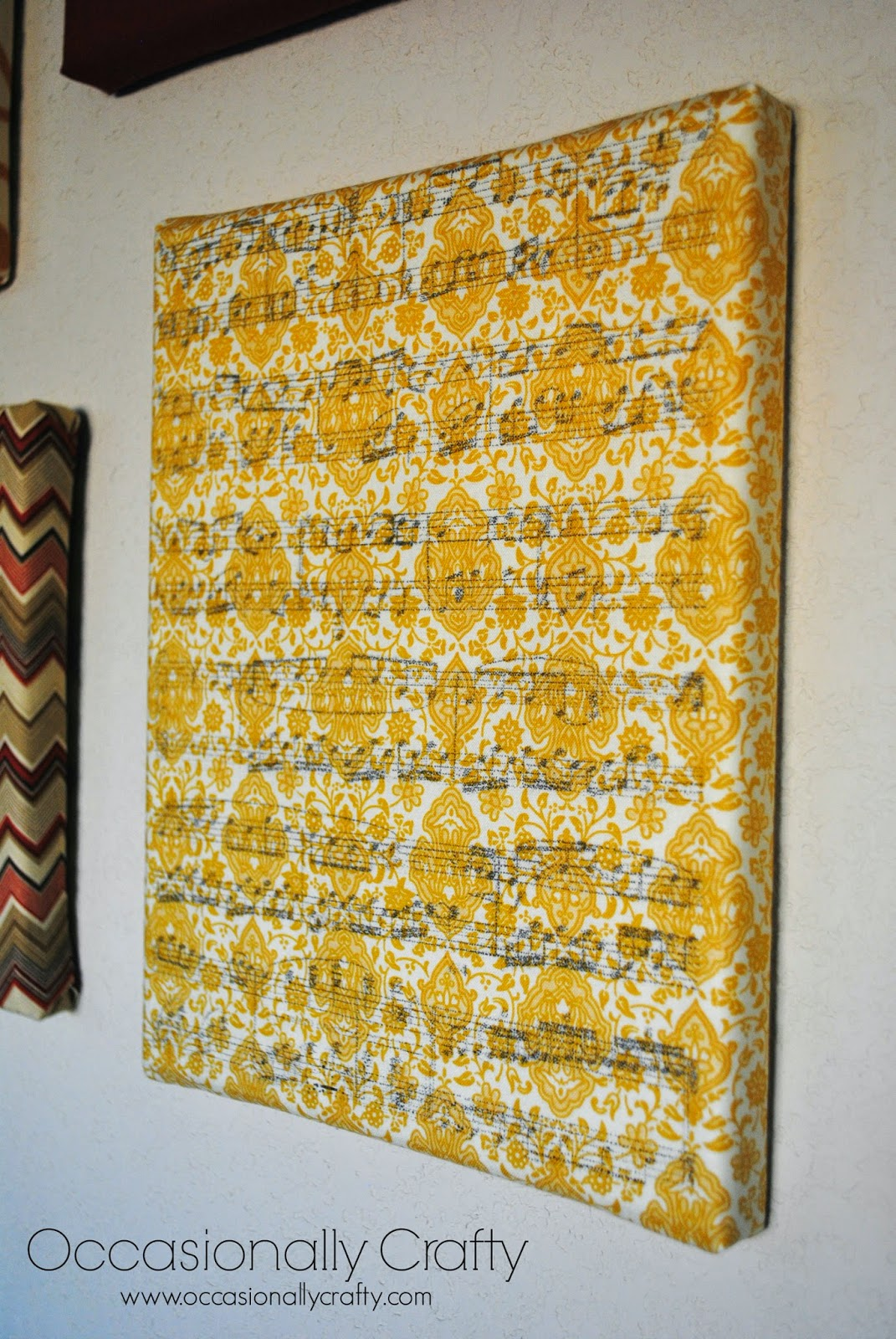 Sister\'s Challenge: Fabric Wrapped Canvas with Wax Paper Transfer ...