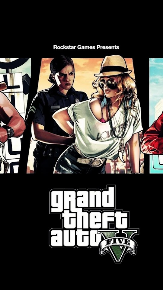 GTA5 Poster Woman Cop  Galaxy Note HD Wallpaper