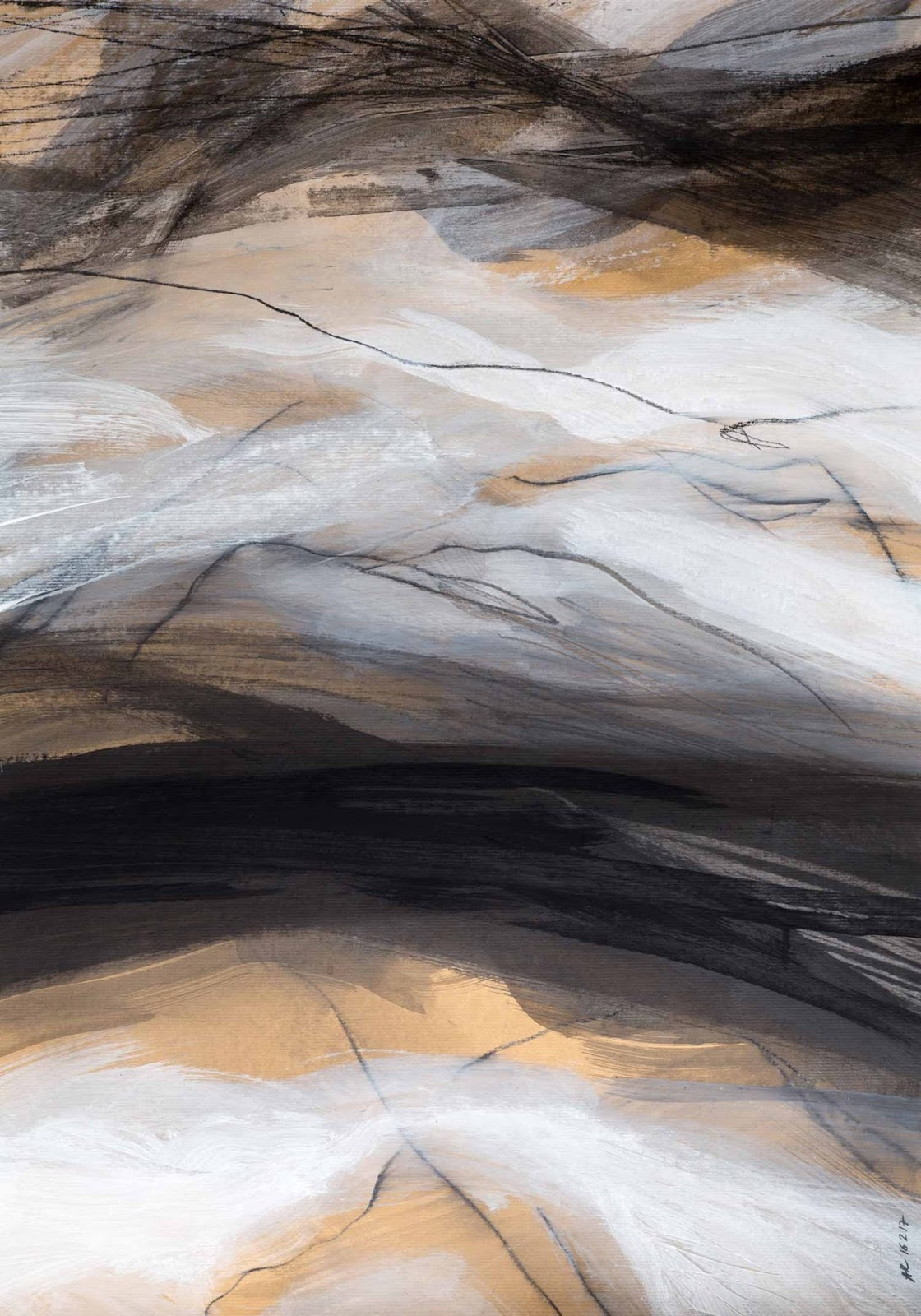 Annik Reymond - acrylique et graphite sur kraft