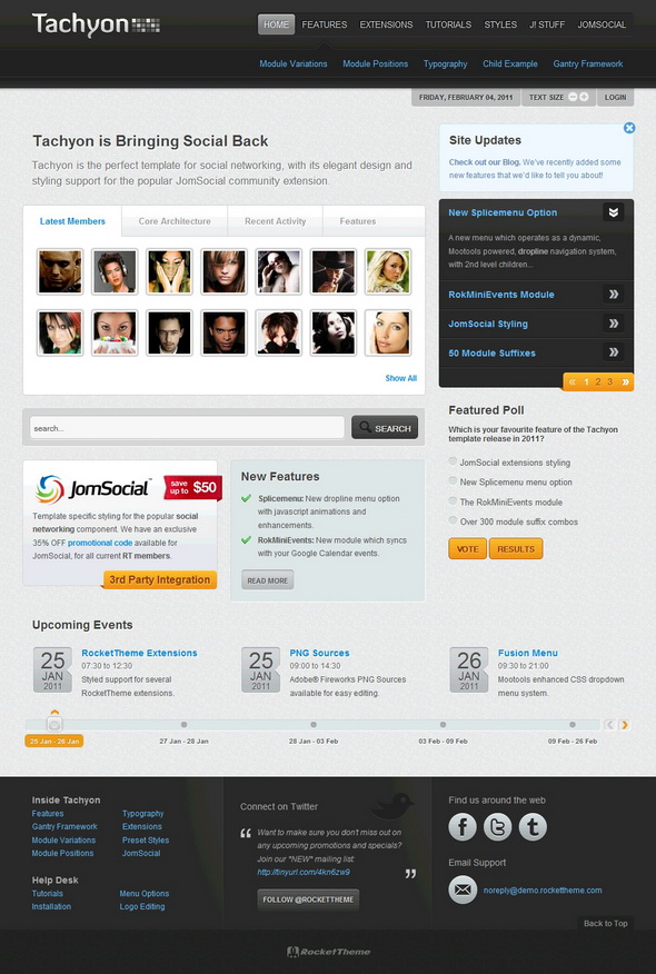 005 template ideas tachyon joomla social media ~ ulyssesroom.
