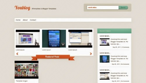 YouBlog Videos Blogger Template