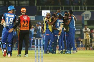 दिल्ली कैपिटल्स ने सनराइजर्स हैदराबाद को 2 विकेट से हराकर क्वालीफायर-2 के लिए क्वालीफाई किया