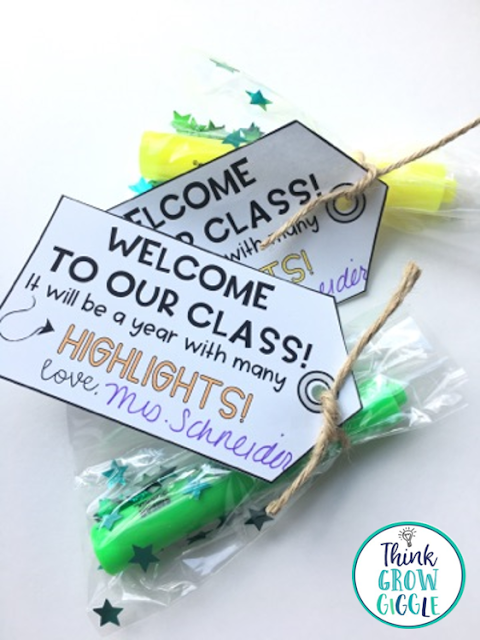 Back to school, free, freebie, gift tags