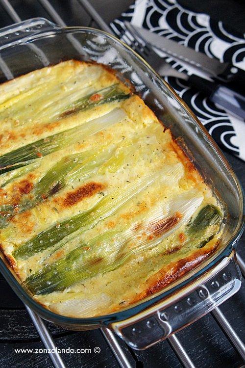 Clafoutis ai porri ricetta facile, veloce e light vegetariana - veggie leek cake