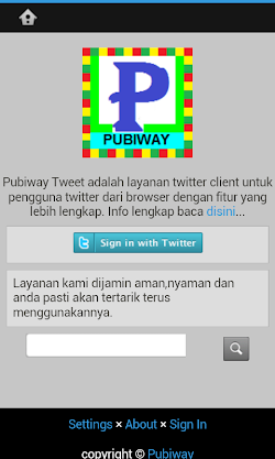 Download Aplikasi PubiwayTweet Khusus Android