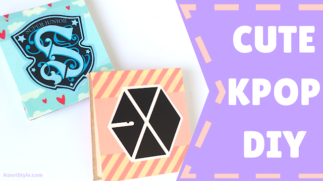 Koori Style, KooriStyle, Kpop, Tutorial, DIY, Craft, Manualidad, Easy, Facil, Sencillo, Simple, Cute, Kawaii, Super Junior, SuJu, EXO, Memo Pad, Note Pad, Libreta, Libretita, Escuela, School, Supply, Supplies