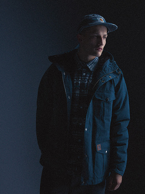 45c0e7de The lookbook, set against a simple dark navy backdrop, features their  latest pieces layered for A/W along with close up shots of the technical  detailing.
