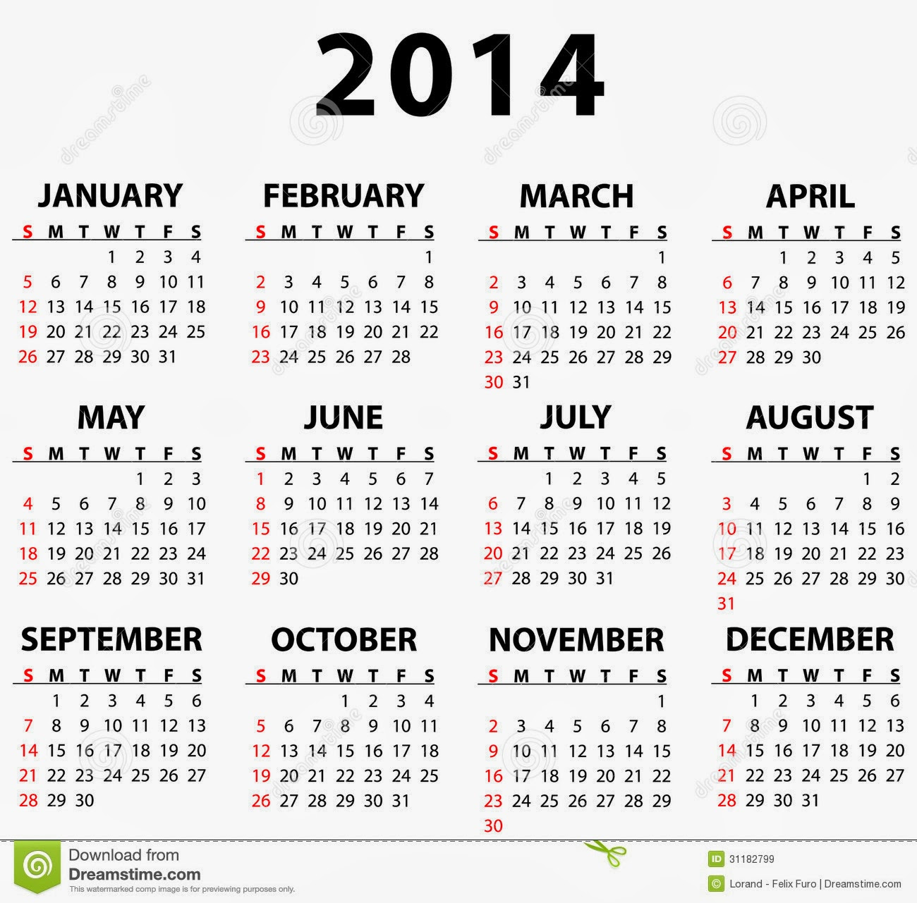 Free calendar templates 2014 to print for 2104 calendar template