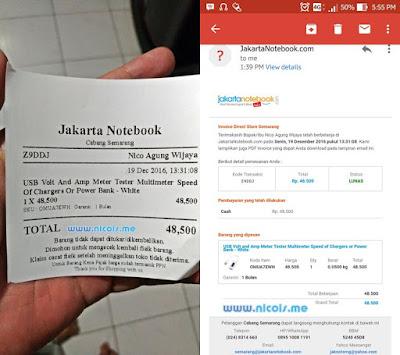 Bukti Pembayaran Jakarta Notebook Semarang