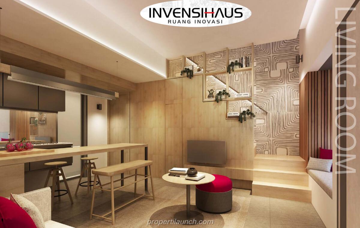 Living Room Rumah InvensiHaus BSD