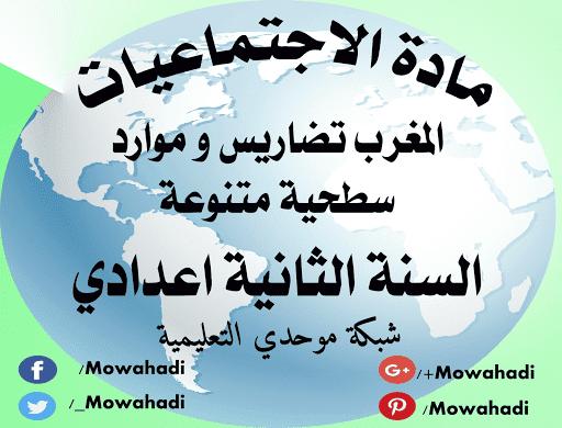درس المغرب: تضاريس وموارد سطحية متنوعة للسنة الثانية اعدادي