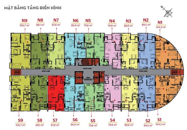 Mặt bằng tầng căn hộ Phúc Yên 2 quận Tân Bình
