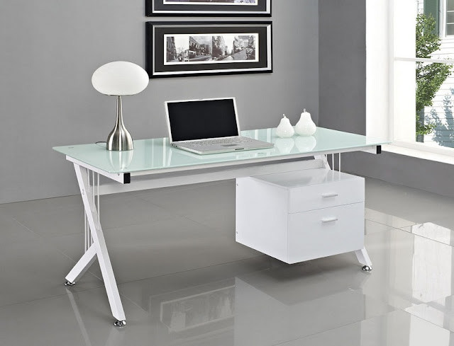 best cheap place to buy office desk white modern glass top for sale