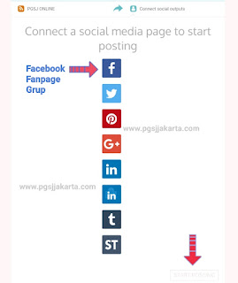 Conect a social edia page to star posting Divr.it