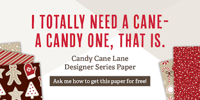 Candy Cane Lane Designer Series Paper, Stampin' Up!, Stamping to Share