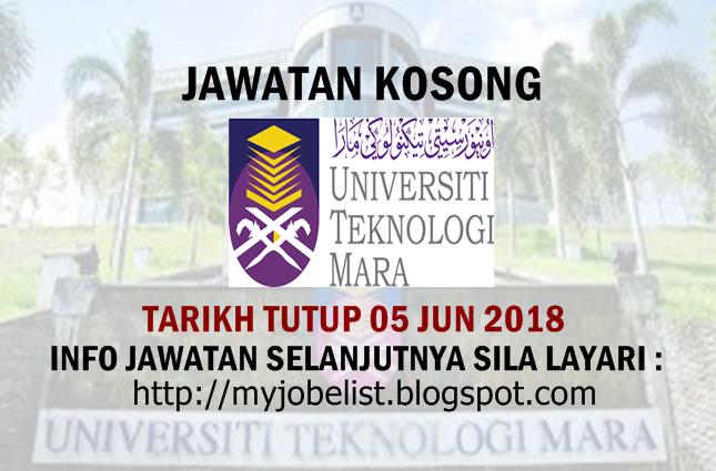 Jawatan Kosong Universiti Teknologi MARA (UiTM) 2018