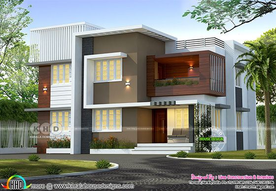 2062 square feet 4 bedroom Thrissur home design
