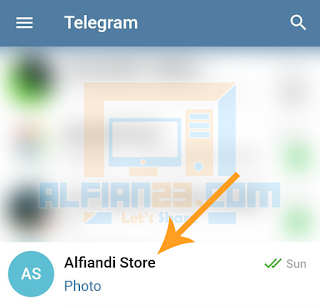 Pasang pin chatan di telegram