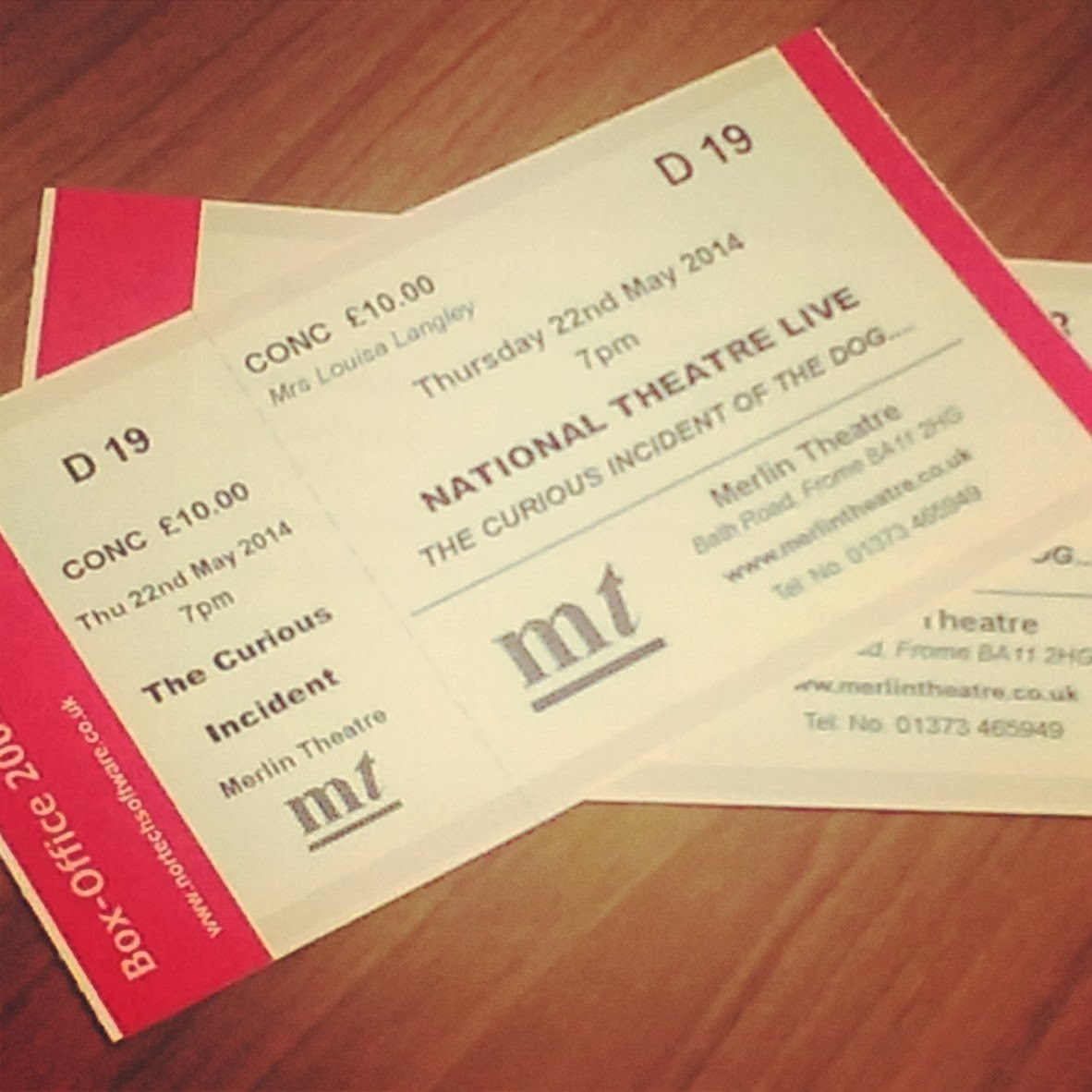 Tickets for the National Theatre Live screening
