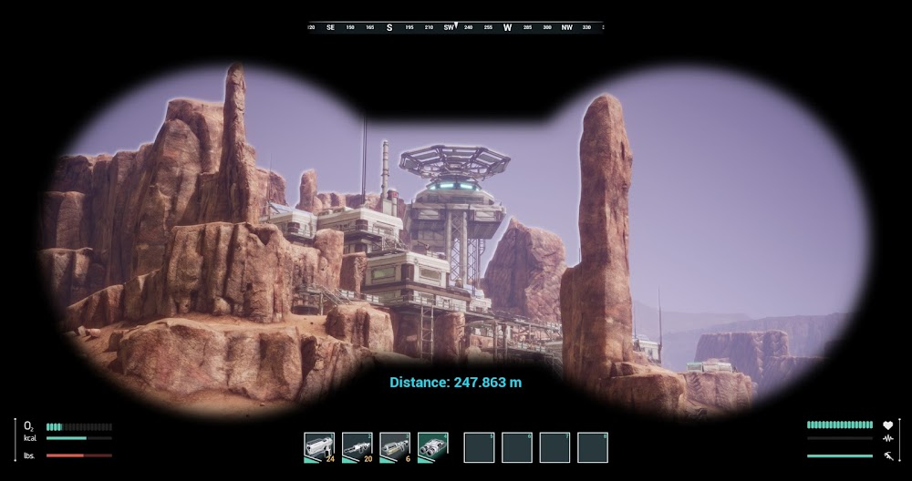 Memories of Mars game image - human base