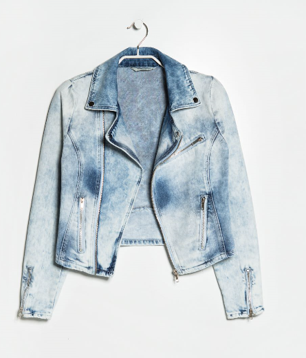 00177d273d36 A twist on the standard denim jacket is this Mango Acid Wash Denim Moto. A  trend item