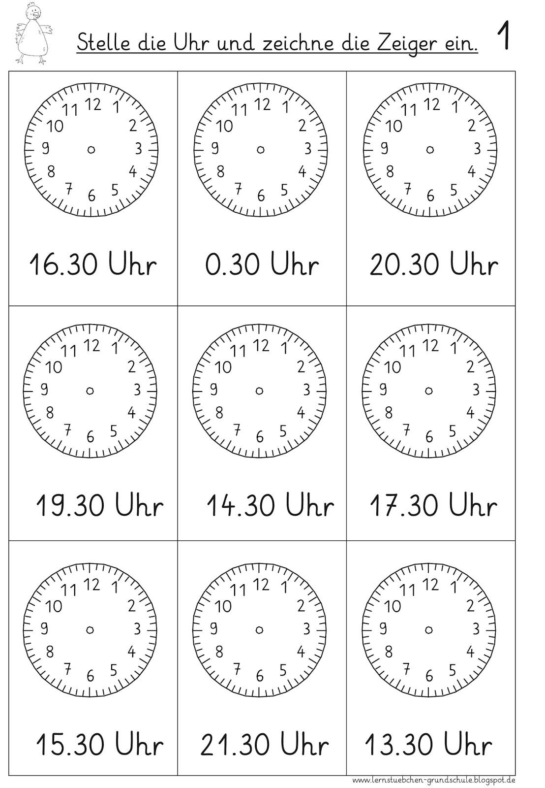 Ziemlich Leere Uhr Vorlagen Ideen - Beispiel Anschreiben für ...