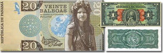 Dinheiro do mundo -Panama - Balboa
